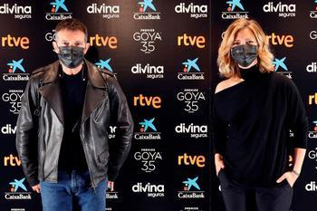 El actor Antonio Banderas y la periodista María Casado, presentadores de la gala