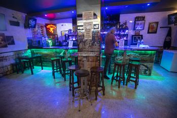 Un establecimiento de ocio nocturno en la capital abulense, reabierto el pasado fin de semana tras muchos meses cerrados.