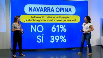 Navarra a la contra: la formación online no triunfa