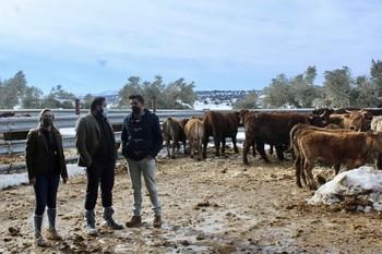 Núñez comprueba los destrozos para el ganado