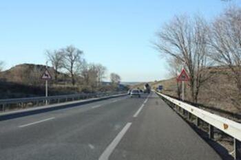 Un muerto tras el choque de dos camiones en Villarrubio