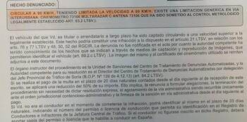 Queja por una multa en el radar de Fuensaúco por ir a 90