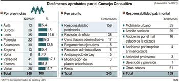 El 66% de casos del Consultivo son de asuntos patrimoniales