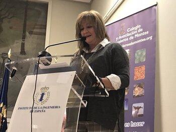 Marta Corella, premiada por los ingenieros forestales