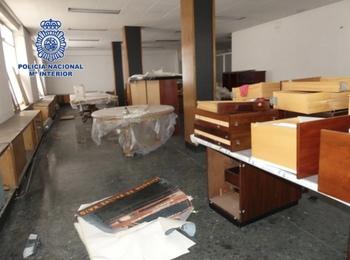 Detenidos en Logroño por robar 8.000 euros en mobiliario