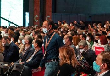David Serrada, secretario en la Mesa del congreso del PSOE