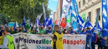 Acaip-UGT y CSIF califican de éxito la protesta en Cuenca