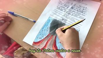 Alumnos de 'Los Almendros' apoyan a los niños de La Palma