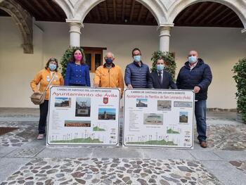 Ávila y Narrillos reciben paneles del Camino de Santiago