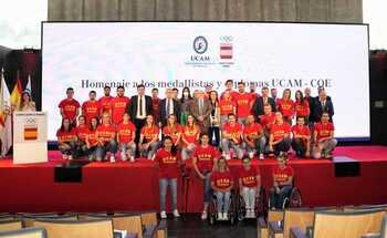 Homenaje del COE y la UCAM a los deportistas olímpicos