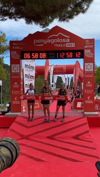 Gemma Arenas, segunda en la Penyagolosa Trail