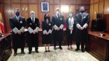 Rouco (segundo por la izquierda), en el acto de jura de una nueva magistrada.