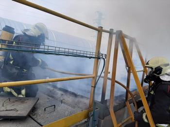 Desalojan una fábrica en Orkoien a causa de un incendio