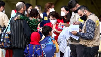 La primera familia de refugiados afganos llega a Burgos