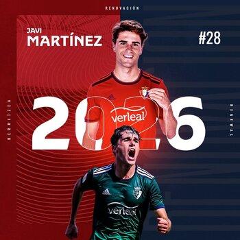 Javi Martínez renueva con Osasuna hasta 2026