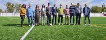 La Diputación ayuda a mejorar el campo de fútbol de Villarta