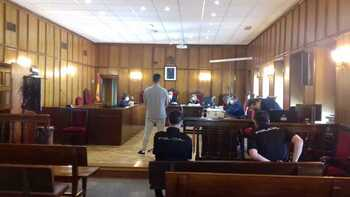 Imagen del acusado durante el juicio.