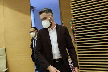Felipe Sicilia, portavoz de la Comisión Ejecutiva del PSOE