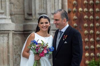 Javier Ortega Smith, número dos de Vox, se casa en Toledo