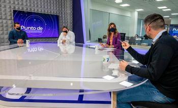 Representantes de ARESSTO, en el programa 'Punto de Encuentro', de La 7 de La Rioja.