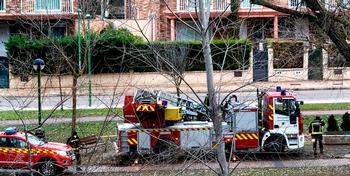 Los bomberos tuvieron que intervenir en el parque lineal del Vena por caída de ramas de árboles.