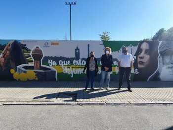 Un mural para sensibilizar contra la violencia de género