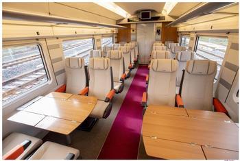 Interior del Avlo, el tren AVE low cost de Renfe.