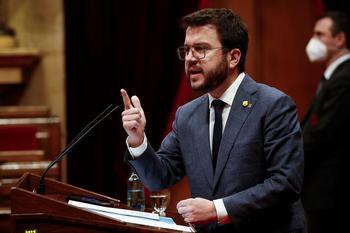 El vicepresidente del Govern con funciones de Presidente, Pere Aragonés.