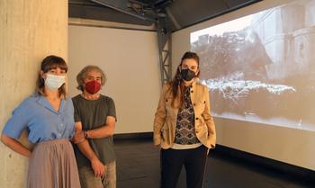 Ana Frechilla, Javier Ayarza y Ana Marcos, de izquierda a derecha.