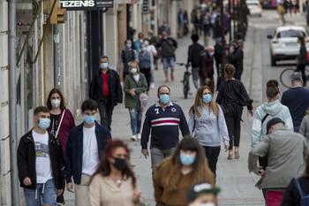 Una muerte por covid y descenso constante de contagios: 250