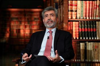 el presidente del Consejo General del Poder Judicial y del Tribunal Supremo, Carlos Lesmes