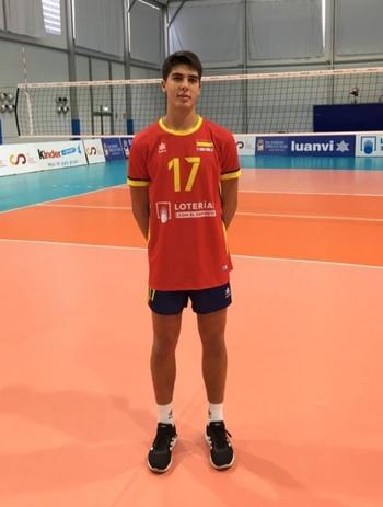 Lucas Lorente, en la selección española absoluta de voleibol