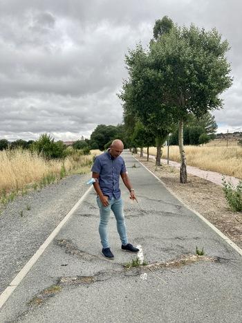Aldudo critica que Por Ávila no actúe en los carriles bici