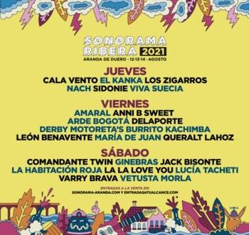 Sonorama Ribera anuncia su cartel por días