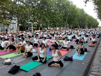 Los profesores de yoga se manifestarán en la Plaza Mayor