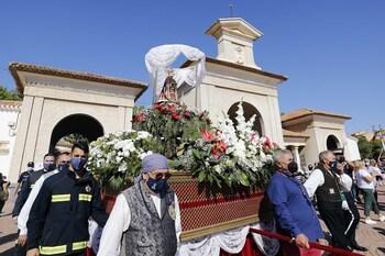 La Virgen de Los Llanos vuelve al Consistorio