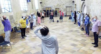 Santa María la Real acoge un taller de música medieval