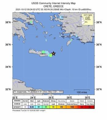 Un terremoto de magnitud 6,3 sacude la isla griega de Creta