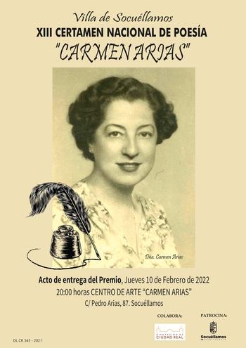 Un único premio para eI Certamen de Poesía Carmen Arias