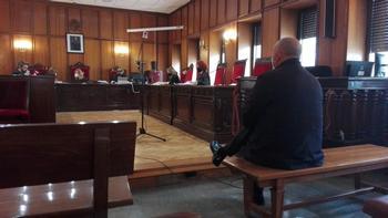 Imagen del acusado en un instante del juicio.