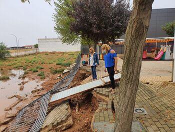 La virulenta tormenta se ceba con la Mancha y la Manchuela