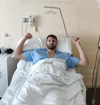 Álex Malón, operado con éxito