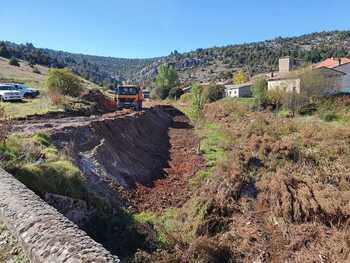 Trabajos en el río Lobos para reducir los daños por crecidas