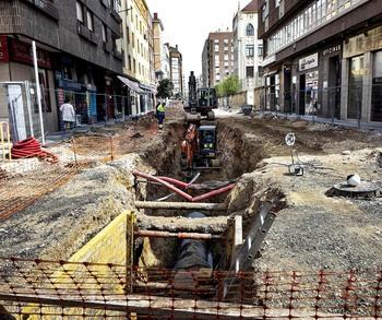 Afectados por la obra de la calle Arenal ruegan «celeridad»