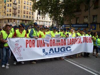 Guardias civiles de Ciudad Real, en la protesta de Madrid