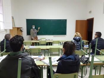 Imagen de archivo de los cursos DELE en el Aula de Formación Permanente de la UP.