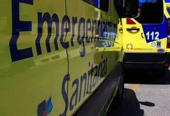 Un motorista herido tras un accidente en Estepa de San Juan