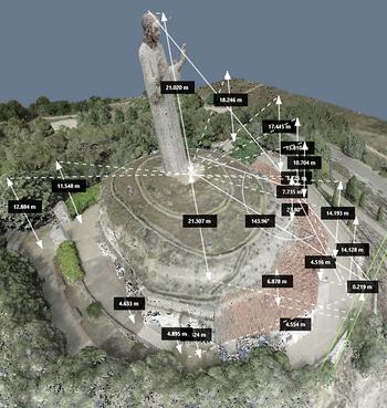 Los 21,02 m del Cristo lo alzan como el 17º más alto