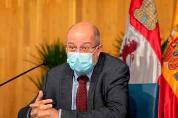 El vicepresidente y portavoz de la Junta, Francisco Igea, en una rueda de prensa ayer en Salamanca.