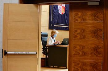 Verónica Casado interviene ante la Comisión de Sanidad de las Cortes.
